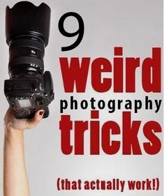9 Weird photography tricks that actually work. Some great ideas here - - 9 Weird photography tricks that actually work. Some great ideas here Photography 9 Seltsame Fotografie-Tricks, die tatsächlich funktionieren. Improve Photography, Mixed Media Photography, Photography Basics, Photography Lessons, Photography For Beginners, Photography Editing, Photography Tutorials, Creative Photography, Digital Photography