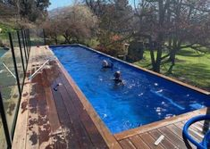 Container pool range and pricing - Container Pools NZ Shipping Container Swimming Pool, Container Pool, Pool Cover Roller, Hardwood Decking, Heat Pump, Pool Designs, Exterior Paint, Swimming Pools, Entertaining