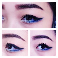 Make up for asian eyes. Fourth of July make up look, pair it up with red lips. Follow me on Instagram: shirleyvang101 and also follow awwlluring.