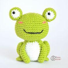 Amigurumi Cute Frog in Dress Free Pattern - Amigurumi Free Pattern Shares Crochet Frog, Crochet Amigurumi Free Patterns, Free Crochet, Cute Frogs, Crochet Instructions, Amigurumi Doll, Amigurumi Minta, Baby Patterns, Crochet Projects