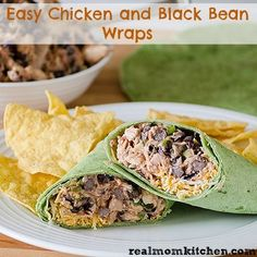Easy Chicken and Black Beans Wraps - Real Mom Kitchen