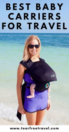 Headed on vacation with a baby? Add a travel baby carrier to your MUST-PACK list. We seriously could NOT function without babywearing while traveling! Here is my guide to choosing the best baby carrier for travel. I've listed some of my favorite baby carriers (that I've personally tried!) for babywearing on vacation. See what I recommend for the baby wearing on the beach! #babywearing #babycarrier #baby #babytravel