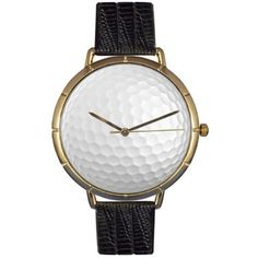 Whimsical Watches Men's N0840009 Golf Lover Black Leather And Goldtone Photo Watch Whimsical Watches. $44.95. Plastic crystal; stainless steel case; leather strap. Japanese quartz movement. Comes in gift box. Gold tone second hand. Golf lover theme