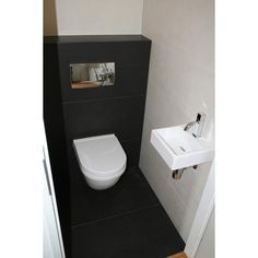 powder room with wall hung toilet Small Toilet Room, Guest Toilet, New Toilet, Bathroom Spa, Bathroom Toilets, Modern Bathroom, Wall Hung Toilet, Downstairs Toilet, Restaurant Bathroom