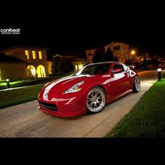 Sexy in Red. | Capture: Anthony Lezada #Nissan #370Z #SSR #Canibeat - @canibeat_crew- #webstagram