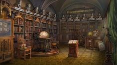 Library by Lemonushka on DeviantArt