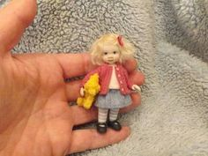 Miniature Handmade Girl Child OOAK Dollhouse Art Doll House Artist 1 12 Scale | eBay. (sweet little girl by karens-mini-bears)