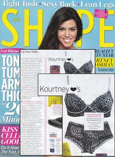 Kourtney Kardashian. Shape Magazine.