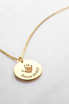 Baby footprint necklace • New mom gift • New baby gift • Baby feet necklace • newborn gifts • new baby gifts • baby girl gifts • best baby gifts for girls • personalised baby gifts • baby presents • keepsake gift for new parents • new mom gift