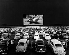 VW Bugs watching Herbie the Love Bug at a drive in theatre in Las Vegas