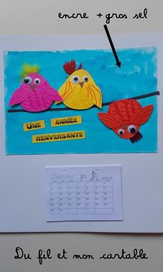 Un premier calendrier ... Une carte postale vue sur le Pinterest que je n'ai pas retrouvée, si vous la voyez, faites-moi signe ... 3 oi...