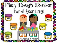 Play Dough Center For All Year Long! This is a play dough center that includes the following: ten frames, letters, addition, subtraction, shapes, faces, counting to 20, sight words, and more! $