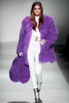 Fluffy Purple Coat