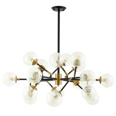 Modway Furniture Modern Sparkle Amber Glass And Antique Brass 18 Light Mid-Century Pendant Chandelier - Sputnik Chandelier, Black Chandelier, Ceiling Pendant, Chandelier Lighting, Ceiling Lights, Chandeliers, Industrial Chandelier, Antique Chandelier, Home