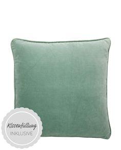 Kissen Velvet green tea 50 x 50 von Bungalow online kaufen