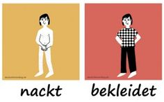 nackt bekleidet Adjektive Deutsch deutschlernerblog