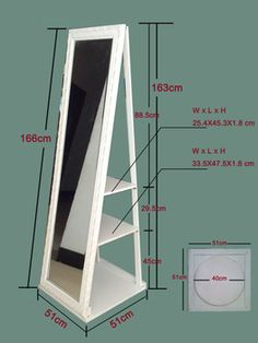 1000 Images About Diy Full Length Mirror Shelf Combo On