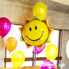 スマイル 太陽 カラフル バルーンデコレーション専門サービス Loved up balloons