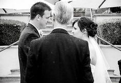 Bride and Groom Shot different vantage point Montgomery Wedding Location: Monterey, CA JoanCristobal.com