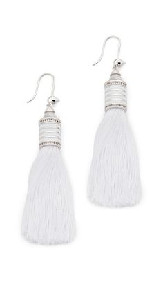 Eddie Borgo Enamel Tassel Earrings