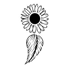 New Beginnings by Krysten - This design is of a floral semicolon. It represents the support of mental illness and suicide prevention. The floral represents new life and new beginnings. Inkbox Tattoo, Semicolon Tattoo, Lotus Tattoo, Tattoo Fonts, Friendship Symbol Tattoos, Friendship Symbols, Cute Tattoos, New Tattoos, Luna Tattoo