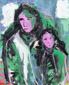 Sin título. Óleo sobre lienzo. 100 x 81 cm. 2004. - Artista: Jorge Rando