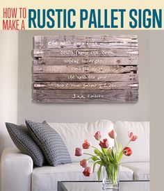 How to Make a Rustic Pallet Sign | Word Art | diyready.com