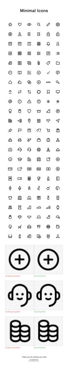 Works | Minimal Icons on Behance By Saeka Shoda