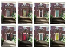 1000 images about matching colors with red brick on - Front door colors for red brick house ...