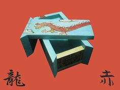 Caja Dragón Chino Geek Crafts, Chinese Dragon, Drawers, Snare Drum, Hand Made, Wood