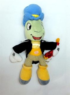 "Jiminy Cricket Disney Pinocchio Tinkerbell 10"" Stuffed Plush Animal Insect Bug"