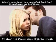 Doctor Who - This is the main reason I cry during that episode Doctor Who Rose, Rose And The Doctor, Bbc Doctor Who, 10th Doctor, Doctor Humor, Billie Piper, Rose Tyler, Don't Blink, Bad Wolf