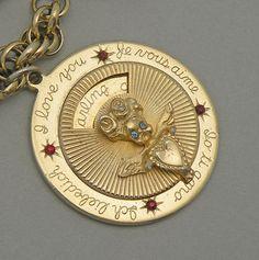 Vintage Kramer Rhinestone Cupid Love Mechanical Charm Bracelet