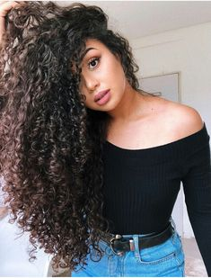 Buy Brazilian Curly Hair With Closure From Reliable Brazilian Hair Bundles With Closure Supplier.Get Best Quality Brazilian Curly Bundles With Closure On Cynosure Mall. Curly Hair Tips, Long Curly Hair, Curly Girl, Big Hair, Brazilian Hair Bundles, Brazilian Hair Weave, Curled Hairstyles, Pretty Hairstyles, Natural Hair Styles