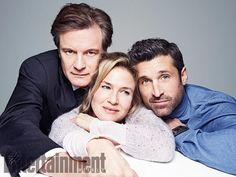 BRIDGET JONES'S BABY (2016) ~ Photo of Colin Firth, Renee Zellweger, and Patrick Dempsey from ENTERTAINMENT WEEKLY's December 31, 2015 photo gallery.