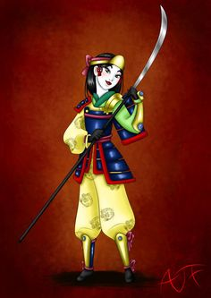 Kimono Disney Princesses : Mulan by Atomicfrog83 on deviantART