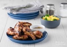 Teriyaki Chicken Wings, Barbecue Chicken, Spicy Wings, Buffalo Wings, Chicken Wing Recipes, Entrees, Easy Meals, Low Carb, Ethnic Recipes