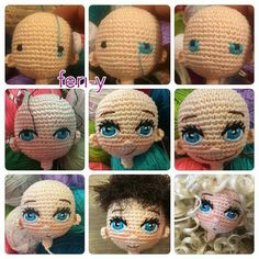 Occhi. Crochet FacesAmigurumi TutorialAmigurumi DollCrochet ...