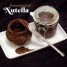 Gör egen nutella och fyll dina bakverk med - så mycket godare än köpt! Nutella, Chocolate Fondue, Oreo, Tart, Snacks, Cooking Recipes, Sweets, Candy, Desserts