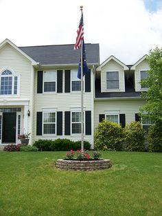 new planter and flag pole