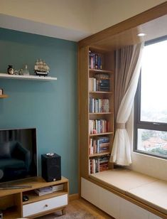 45 amazing bookshelves window seat inspire 48 - Home Design Ideas Room Design, Home Decor Bedroom, House Interior, Home Interior Design, Interior Design, House Interior Decor, Interior Design Bedroom, Living Room Designs, Window Seat Design