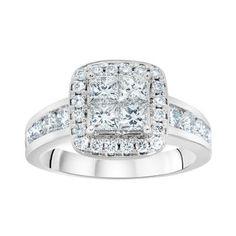 Costco: Princess Cut Quad Diamond Ring  (1.74ctw)