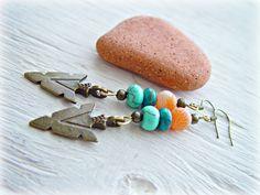 Boho Hippie Earrings  Boho Hippie Jewelry  Boho by HandcraftedYoga