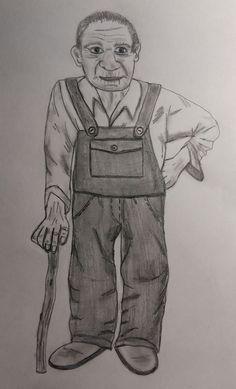 Der alte Mann......... Art, Old Men, Pencil, Figurine, Drawing S, Art Background, Kunst, Performing Arts, Art Education Resources