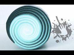 polymer clay tutorial murrina spirale / swirl millefiori cane - YouTube