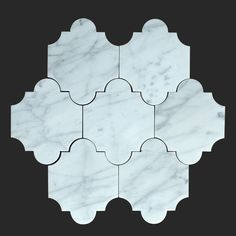 Portici Design Bianco Carrara Marble 10x8.1 Waterjet Mosaic Tile from http://AllMarbleTiles.com