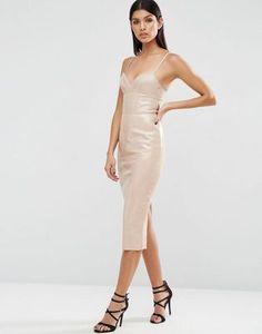 ASOS PU Bodycon Dress