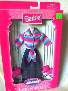 1997 Authentic Jeans Fashion Avenue Barbie Doll Outfit New NRFP | eBay