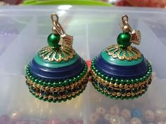 Quilled jhumkis from fb