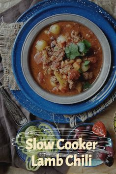You're gonna not believe that this slow cooker lamb chili stew has an ingredient in it that you'd probably never thinking of adding! But, what this one little ingredient does is round out the entire flavor profile of this chili! Now, this lamb chili stew is probably award-winning, at least on my table and with my family and friends! #lambchili #lambstew Easy Lamb Recipes, Meal Recipes, Chili Recipes, Dinner Recipes, Lamb Chili Recipe, Lamb Stew, Slow Cooker Chili, Turkey Dishes, Bohemian Lifestyle